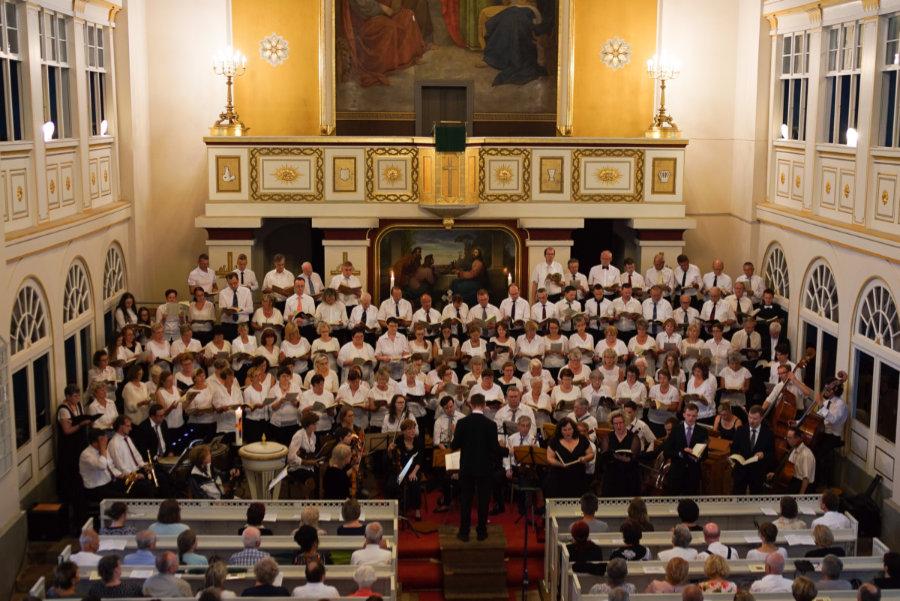 """Aufführung der Oratoriums """"Der Messias"""" von Georg Friedrich Händel am 10. Juni 2018 in der Christuskirche Bischofswerda"""